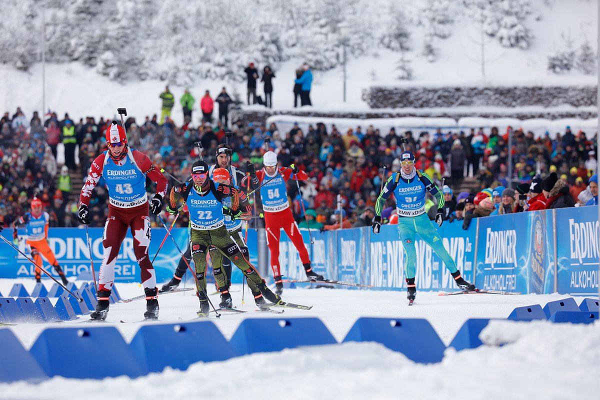Biathletes in the penalty loop