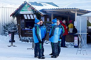 Hut village at the DKB SKI ARENA